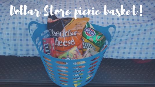 Dollar Store picnic basket!
